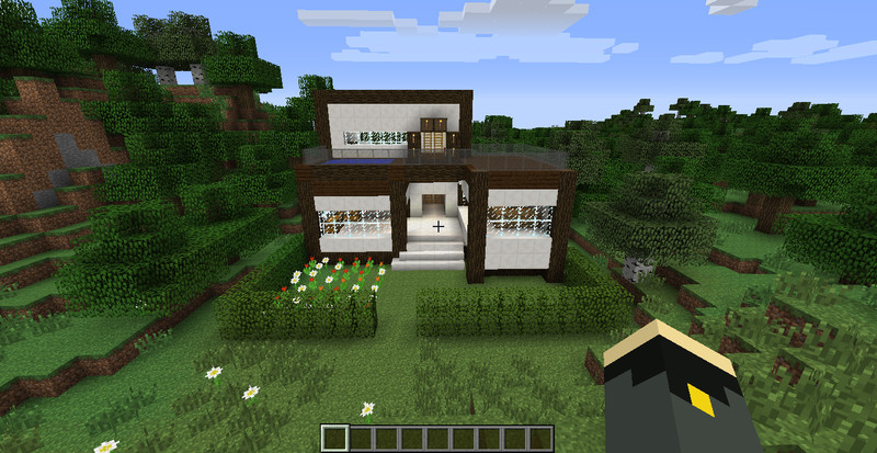 Minecraft moderne villa v 1 8 7 maps mod f r minecraft for Minecraft modernes haus download 1 7 2