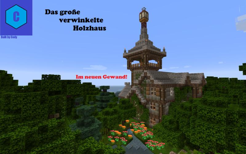 Minecraft gro es verwinkeltes holzhaus v 1 9 maps mod f r for Minecraft holzhaus
