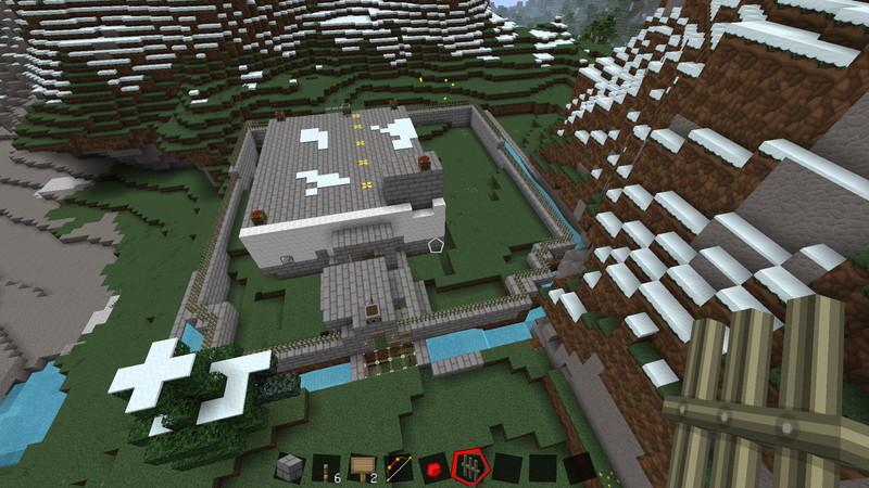 minecraft haus mit geheimg ngen v 1 0 maps mod f r minecraft. Black Bedroom Furniture Sets. Home Design Ideas