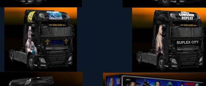 ETS 2: JBK DAF XF E6 WWE v 1 0 Skins Mod für Eurotruck