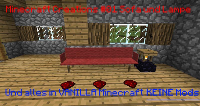 Minecraft SofaLampe In Minecraft Vanilla MC Creations V - Minecraft vanilla spielen