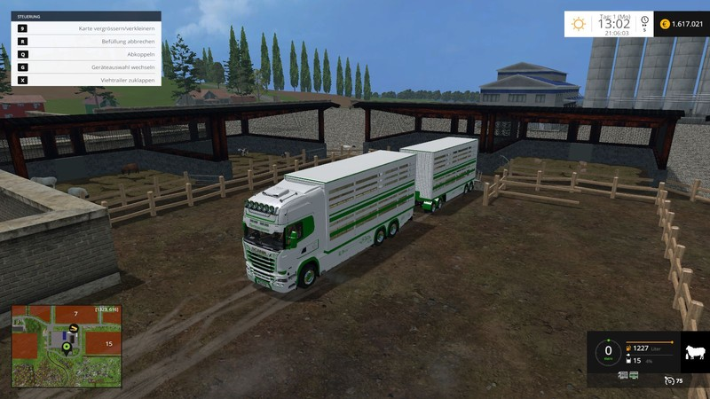 ls 15 scania viehtransporter v 1 2 mit jungtieren scania. Black Bedroom Furniture Sets. Home Design Ideas
