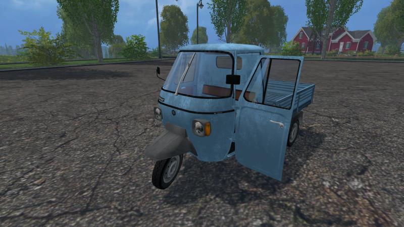 FS 15: Piaggio Ape P601 v 1 0 Cars Mod für Farming Simulator 15