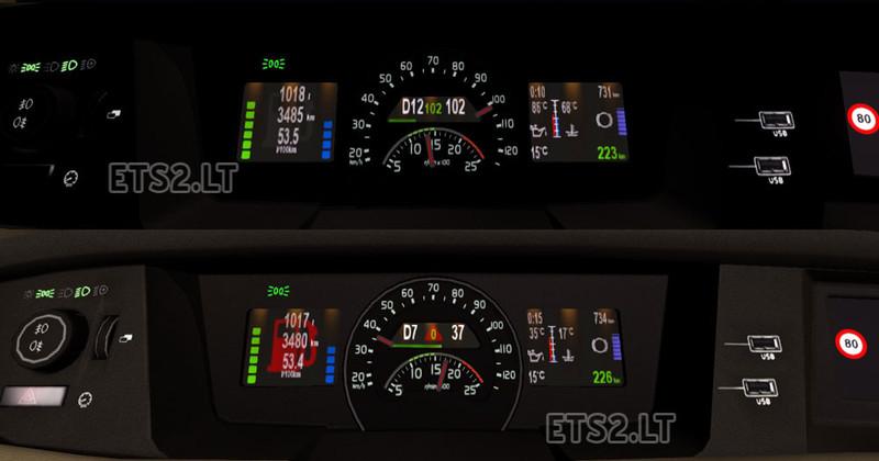 ETS 2: Volvo FH16 dashboard v 1 0 Mods Mod für Eurotruck