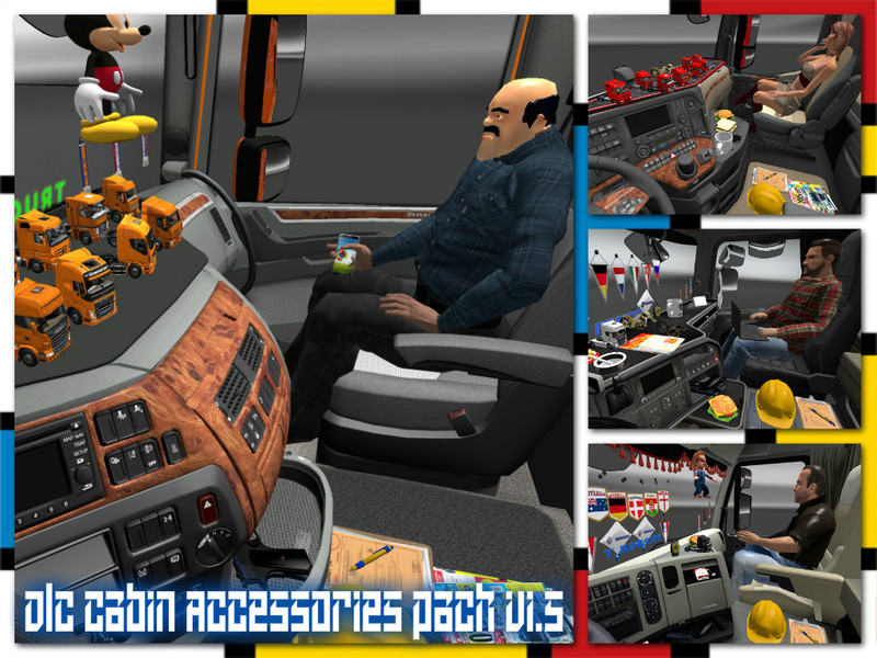 ETS 2: DLC Cabin Accessories pack v 1.5 Interieurs Mod für ...