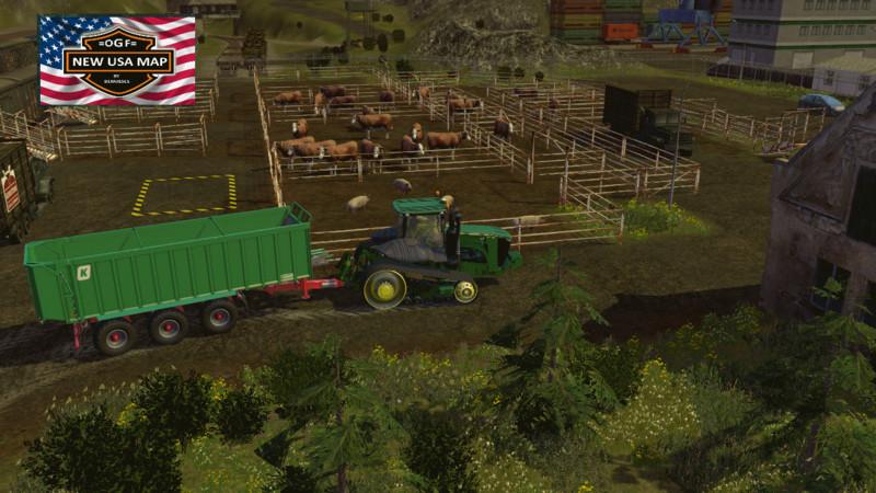 Farming Simulator 17 American Map.Fs 15 Ogf Usa V 1 2 Maps Mod Fur Farming Simulator 15 Modhoster Com