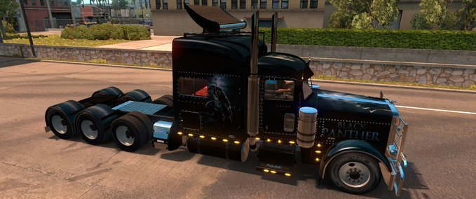 Black-panther-skin-fur-peterbilt-389