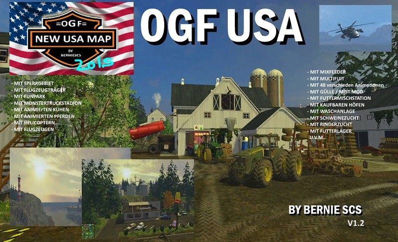 Farming Simulator 17 American Map.Fs 15 Ogf Usa V 1 2 Maps Mod Fur Farming Simulator 15 Modhoster Com