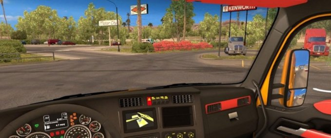 Red-interior-for-kenworth-t680
