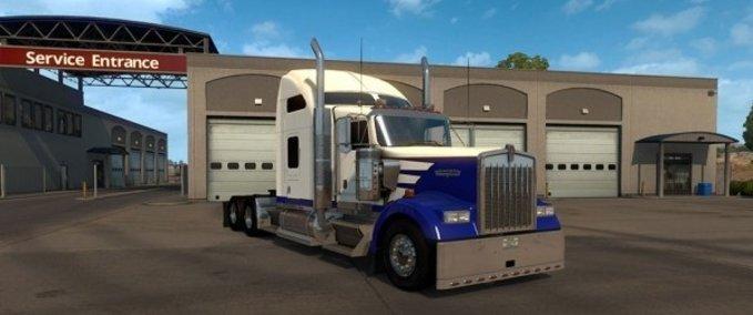 Kenworth-w900-blue-spike-custom