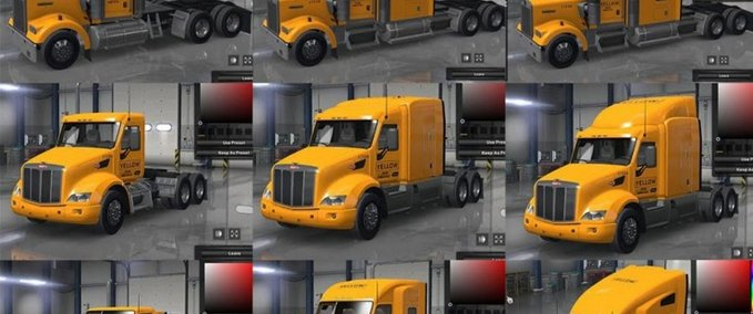 Yellow-inc-company-skins-for-all-3-cs-trucks