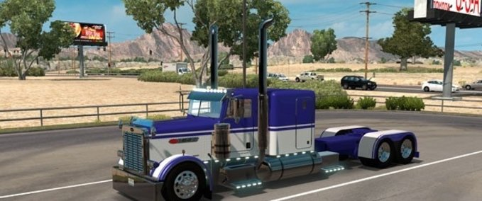 Custom-peterbilt-389-flat-top-sleeper-blue