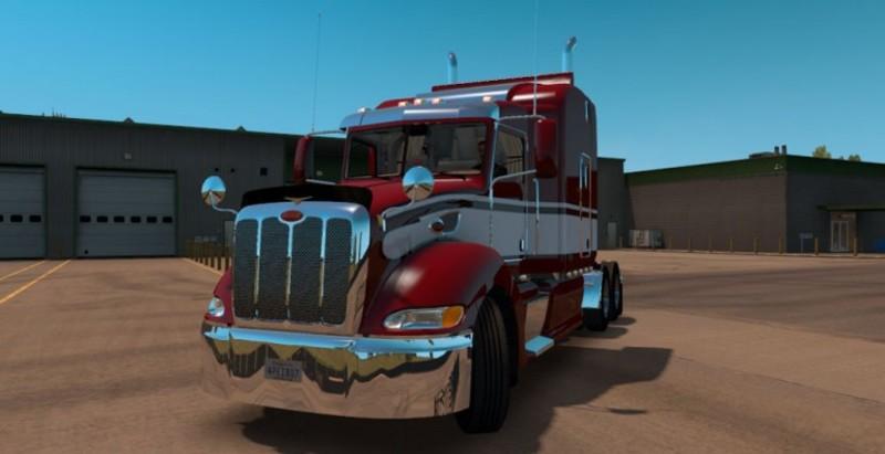 ats: Peterbilt 386 update v 1 0 Trucks Mod für American