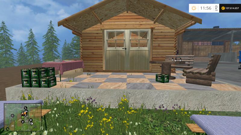 Ls 15 gartenhaus f r heimwerker v 1 1 platzierbar geb ude for Modern massiv bauen halle