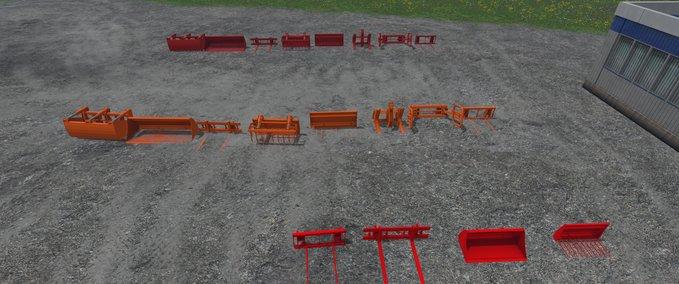 Frontladerwerkzeuge-pack
