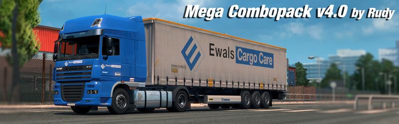 ETS 2: Mega Combo Pack v 6 0 Skins Mod für Eurotruck Simulator 2