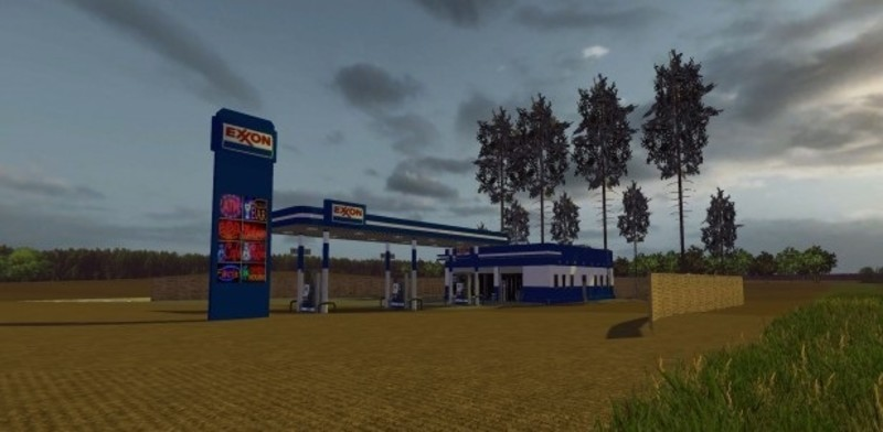 Fs 15 Exon Gas Station V 1 0 Placeable Objects Mod F 252 R Farming Simulator 15