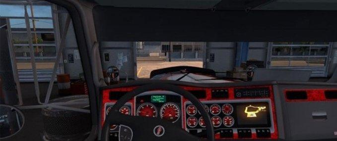 Kenworth-w900-dashboard-red