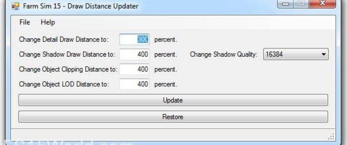 Draw-distance-updater