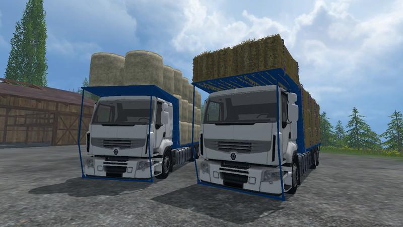 FS 15: Renault Premium v 2 0 bale transport Mod für Farming