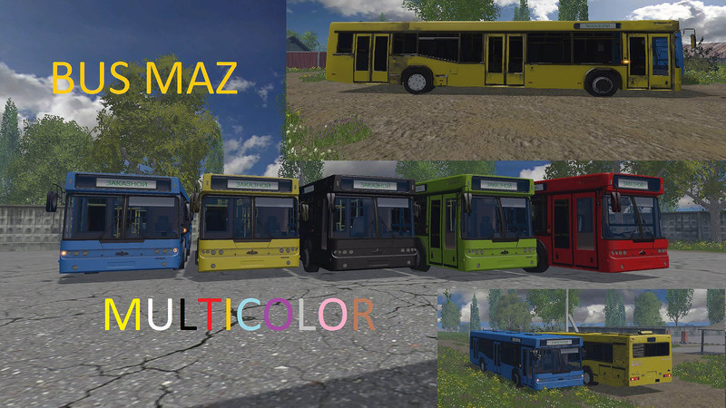 Fs 15 Maz Bus Multicolor V 3 1 Other Vehicles Mod F 252 R