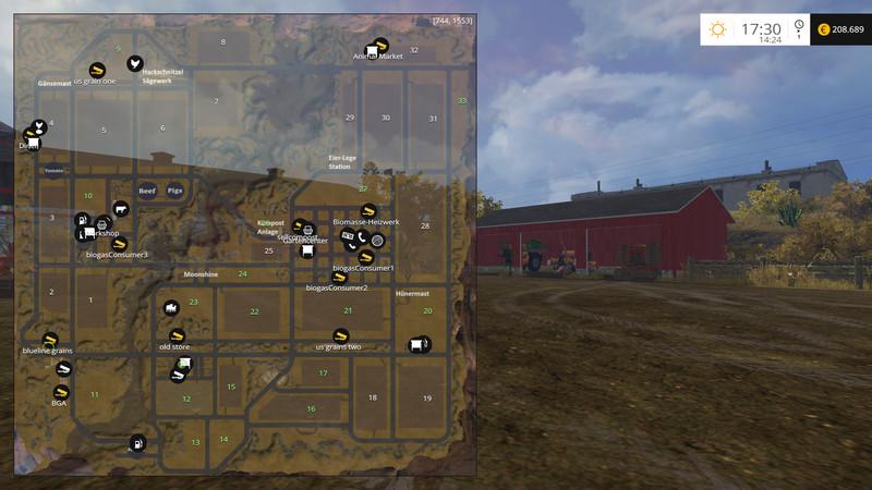 FS  American Outback V Gold Maps Mod Für Farming Simulator - Fs15 us maps