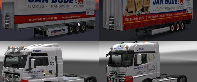 ets 2 jan bode spedition pack v 1 0 standalone trailer mod f r eurotruck simulator 2. Black Bedroom Furniture Sets. Home Design Ideas