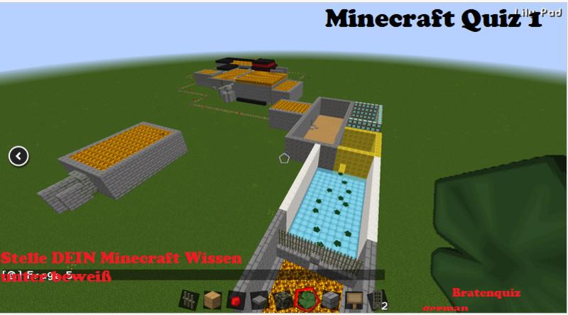 Minecraft Minecraft Quiz Deutsch V Für MC Snapshot Maps - Minecraft quiz spiel