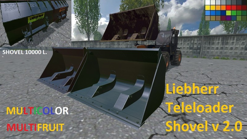 ls 15 liebherr teleloader schaufel multi multifruit v 2 0 teleskoplader mod f r landwirtschafts. Black Bedroom Furniture Sets. Home Design Ideas