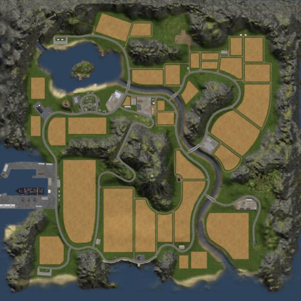 LS 15: Oldschool Farm v 1.1 4fach Maps Mod für ...