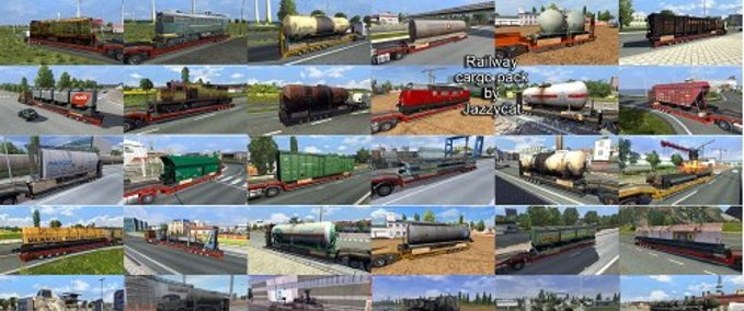 ETS 2: Addons for the Trailers and Cargo Packs v4 0, v1 7 1
