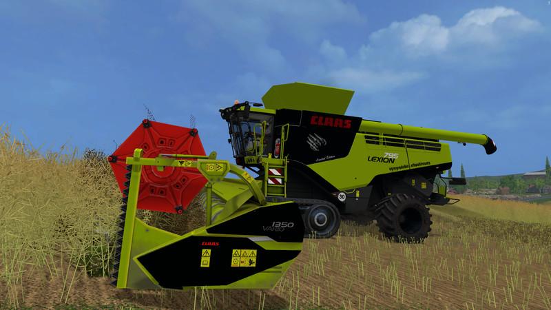 ls 15 lexion 795 mit vario 1350 v 1 2 claas mod f r landwirtschafts simulator 15. Black Bedroom Furniture Sets. Home Design Ideas