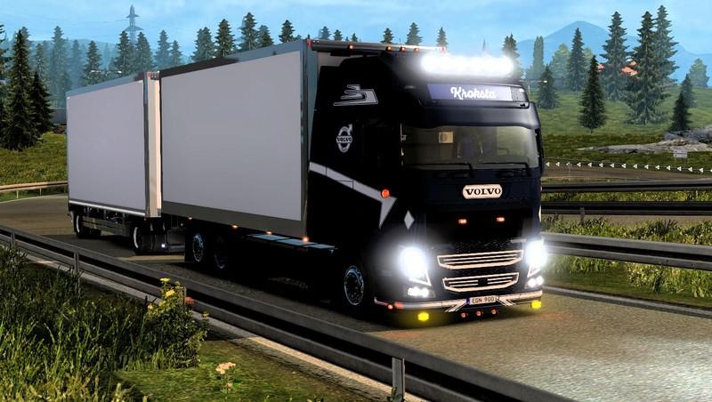 ets 2: New Volvo FH Kroksta + Trailer + Interior v 1.0 Volvo Mod für ...