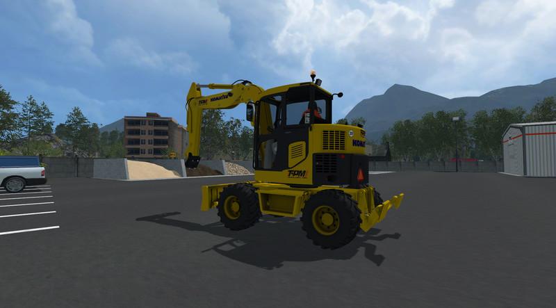 FS 15: Komatsu PW98 v 1.0 Exevators Mod für Farming Simulator 15