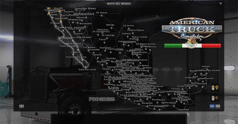 ats: Viva Mexico Map v 1.0 Maps Mod für American Truck Simulator
