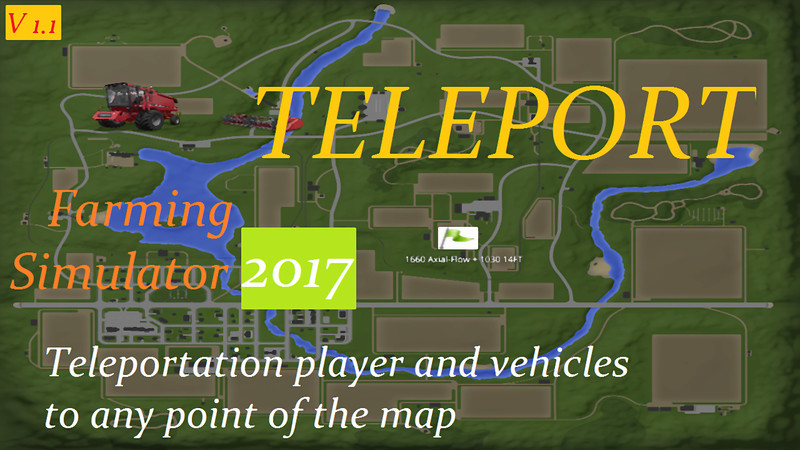 FS TELEPORT V Scripts Mod Für Farming Simulator - Minecraft player teleport mod