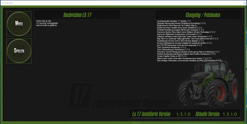 FS 17: FS Launcher v 1 1 Tools Mod für Farming Simulator 17