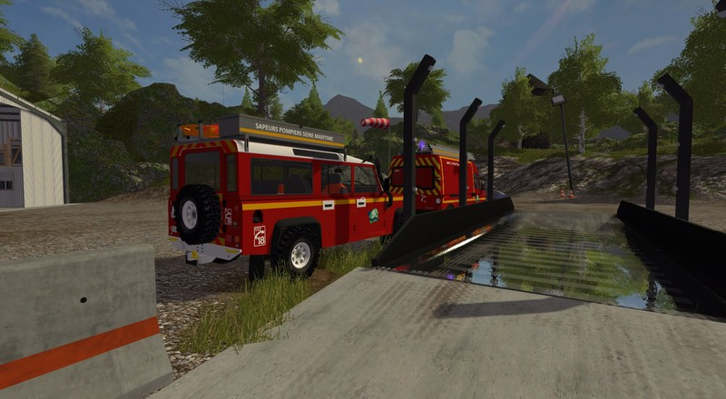 FS 17: VLHR LAND ROVER DEFENDER v 1 Fire department Mod für