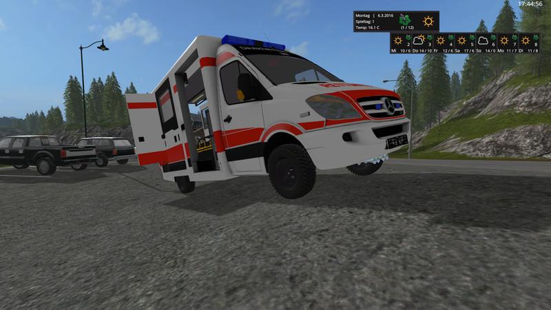Ls 17 Mercedes Sprinter Was Rtw V 0 9 Feuerwehr Mod F 252 R