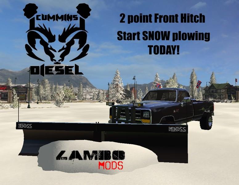 FS 17: DODGE CUMMINS SNOW PLOW TURBO DIESEL 1 0 v 1 0 Trucks