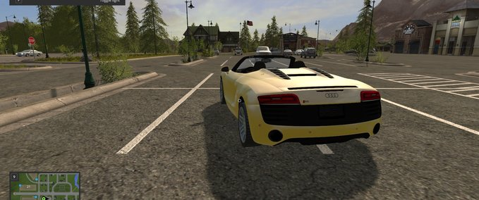 Audi-r8-spyder-yellow