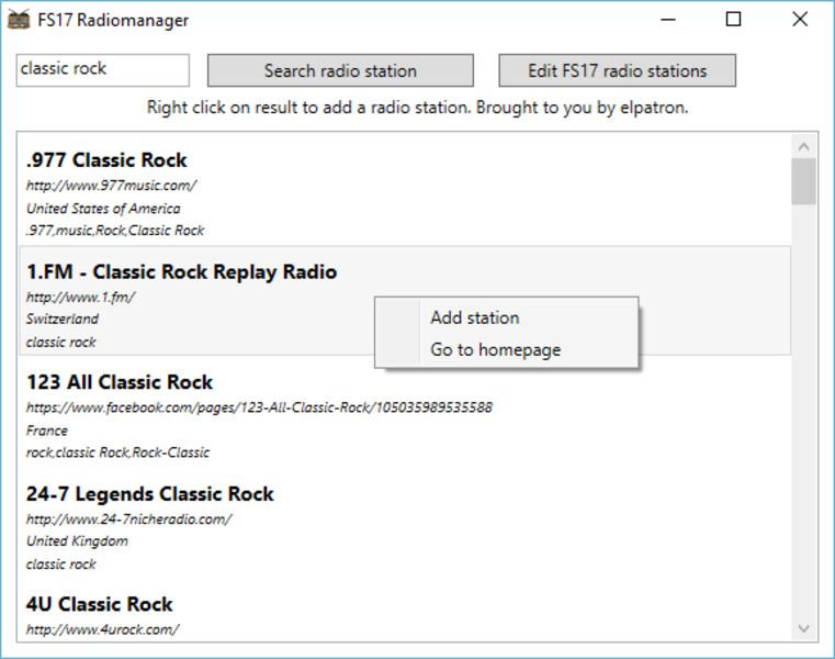 FS 17: FS17-Radiomanager v 1 0 1 Addons Mod für Farming