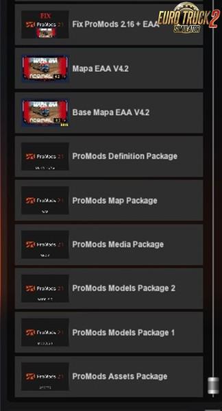 ETS 2: ProMods 2 16 + EAA Map 4 2 Fix [1 27 x] v überarbeitet auf
