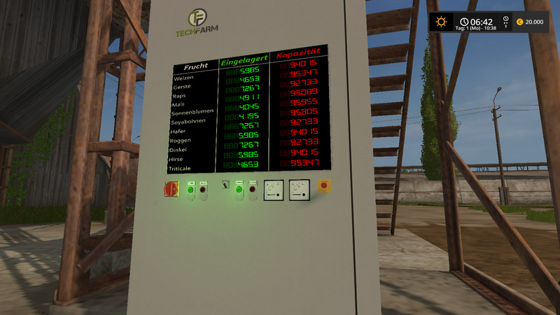 FS 17: Animated control panel v Multifrucht Buildings with ...