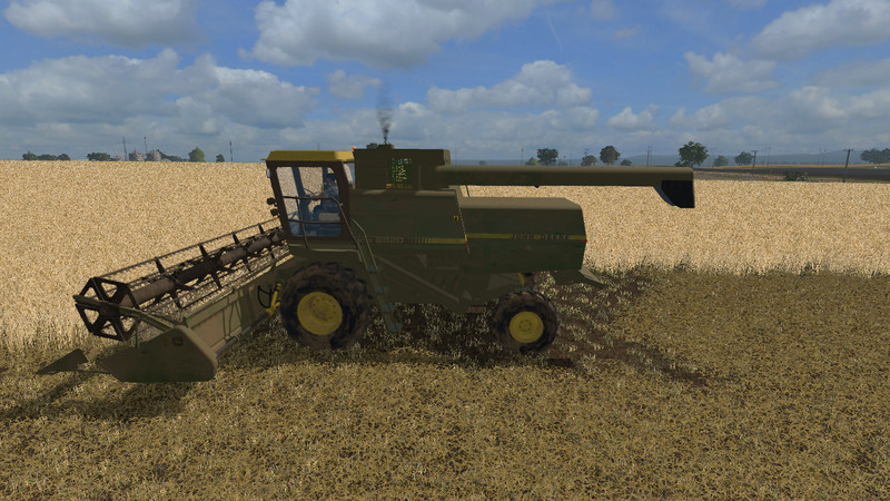 FS 17: John Deere 8820 with header and trailer v 2 0 John Deere Mod