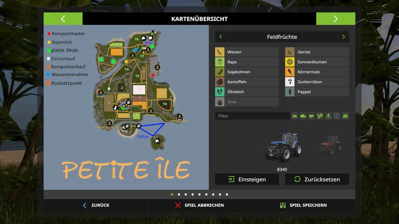 ls 17 petite ile v 1 1 maps mod f r landwirtschafts simulator 17. Black Bedroom Furniture Sets. Home Design Ideas