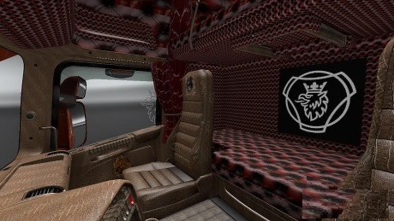 ets 2: Krokodil Interieur für Scania RS RJL v 1.0 Interieurs Mod für ...