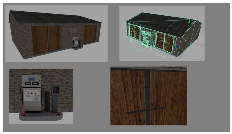 ls 17 kleine halle v 1 0 0 0 geb ude mit funktion mod f r landwirtschafts simulator 17. Black Bedroom Furniture Sets. Home Design Ideas