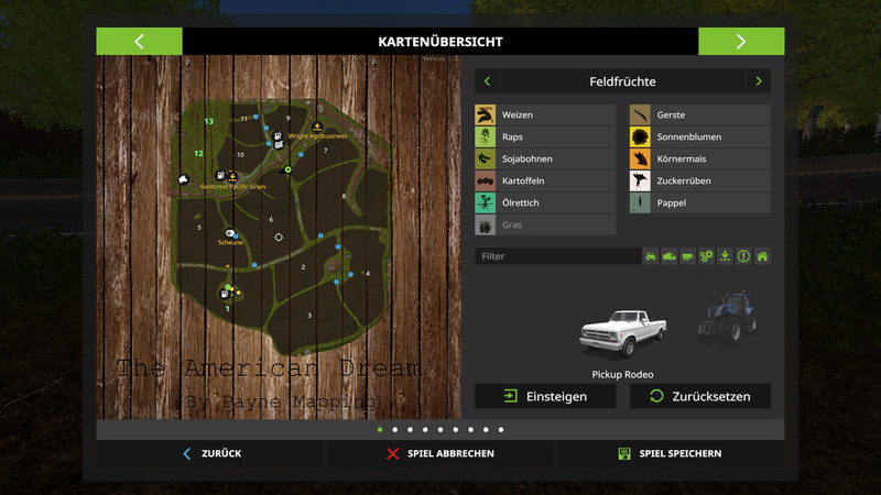 FS 17: The American Dream v 1 2 Maps Mod für Farming