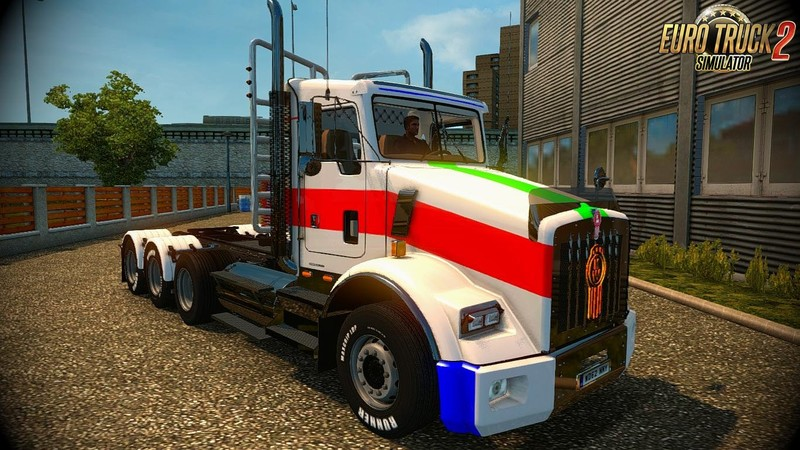 ETS 2: Kenworth T800 + Interior + DLC v2 4 (1 28 x) v 2 4 Trucks Mod